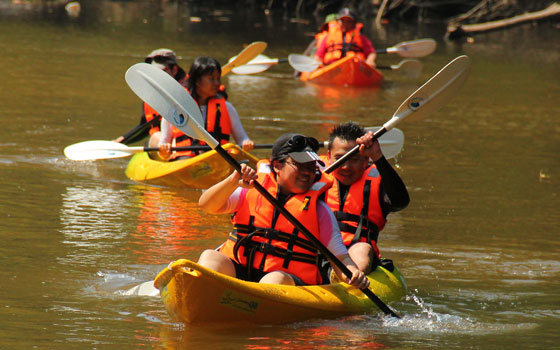 Semadang Kayaking and Bamboo Rafting Adventure